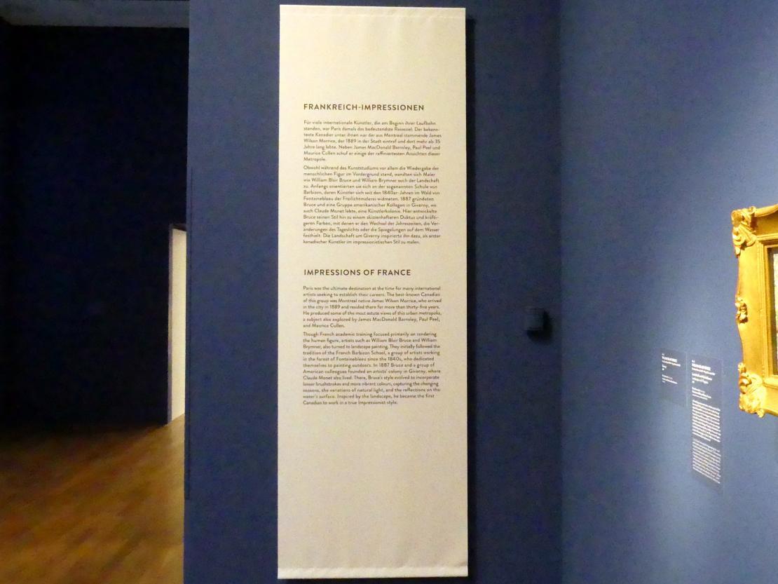 """München, Kunsthalle, Ausstellung """"Kanada und der Impressionismus"""" vom 19.7.-17.11.2019, Frankreich-Impressionen, Bild 2/6"""