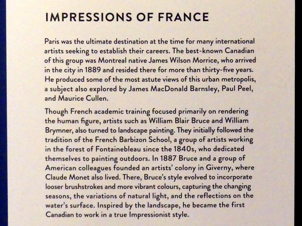 """München, Kunsthalle, Ausstellung """"Kanada und der Impressionismus"""" vom 19.7.-17.11.2019, Frankreich-Impressionen, Bild 4/6"""