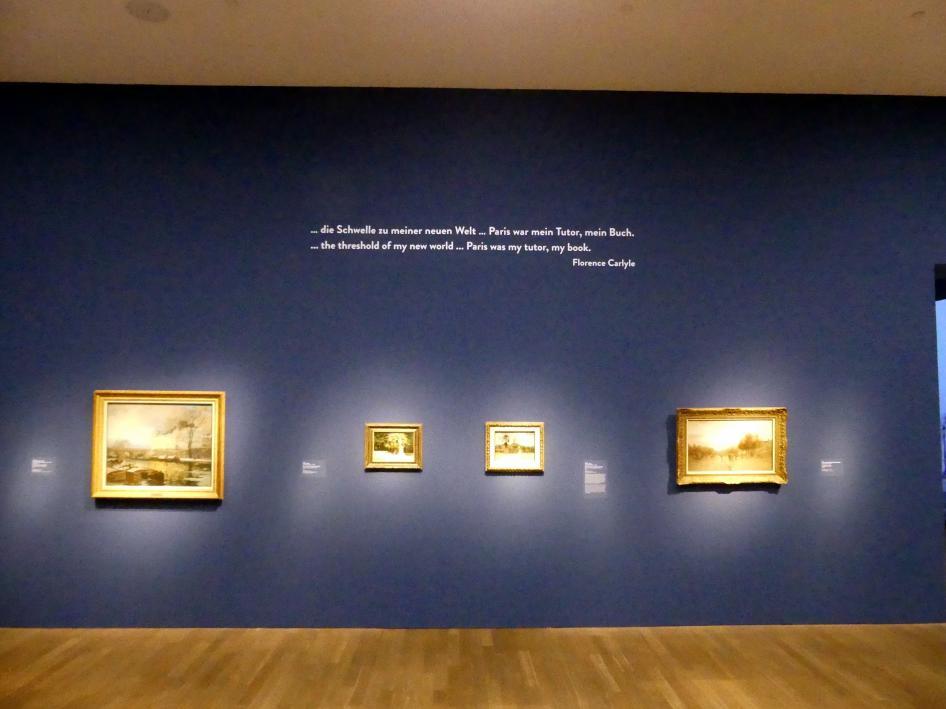 """München, Kunsthalle, Ausstellung """"Kanada und der Impressionismus"""" vom 19.7.-17.11.2019, Frankreich-Impressionen, Bild 5/6"""