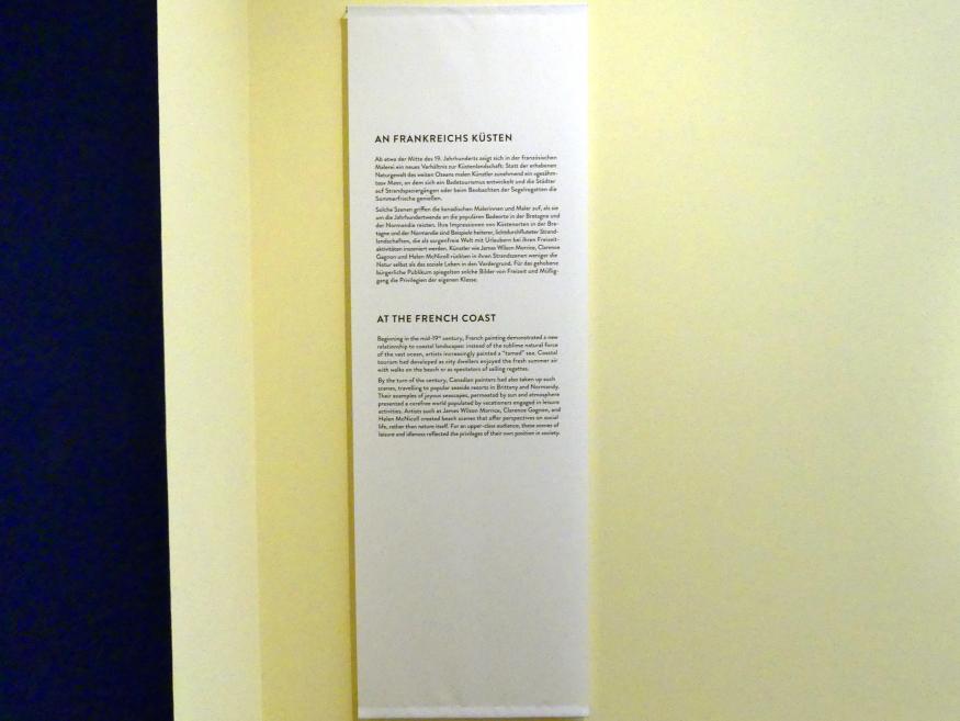 """München, Kunsthalle, Ausstellung """"Kanada und der Impressionismus"""" vom 19.7.-17.11.2019, An Frankreichs Küsten, Bild 2/4"""
