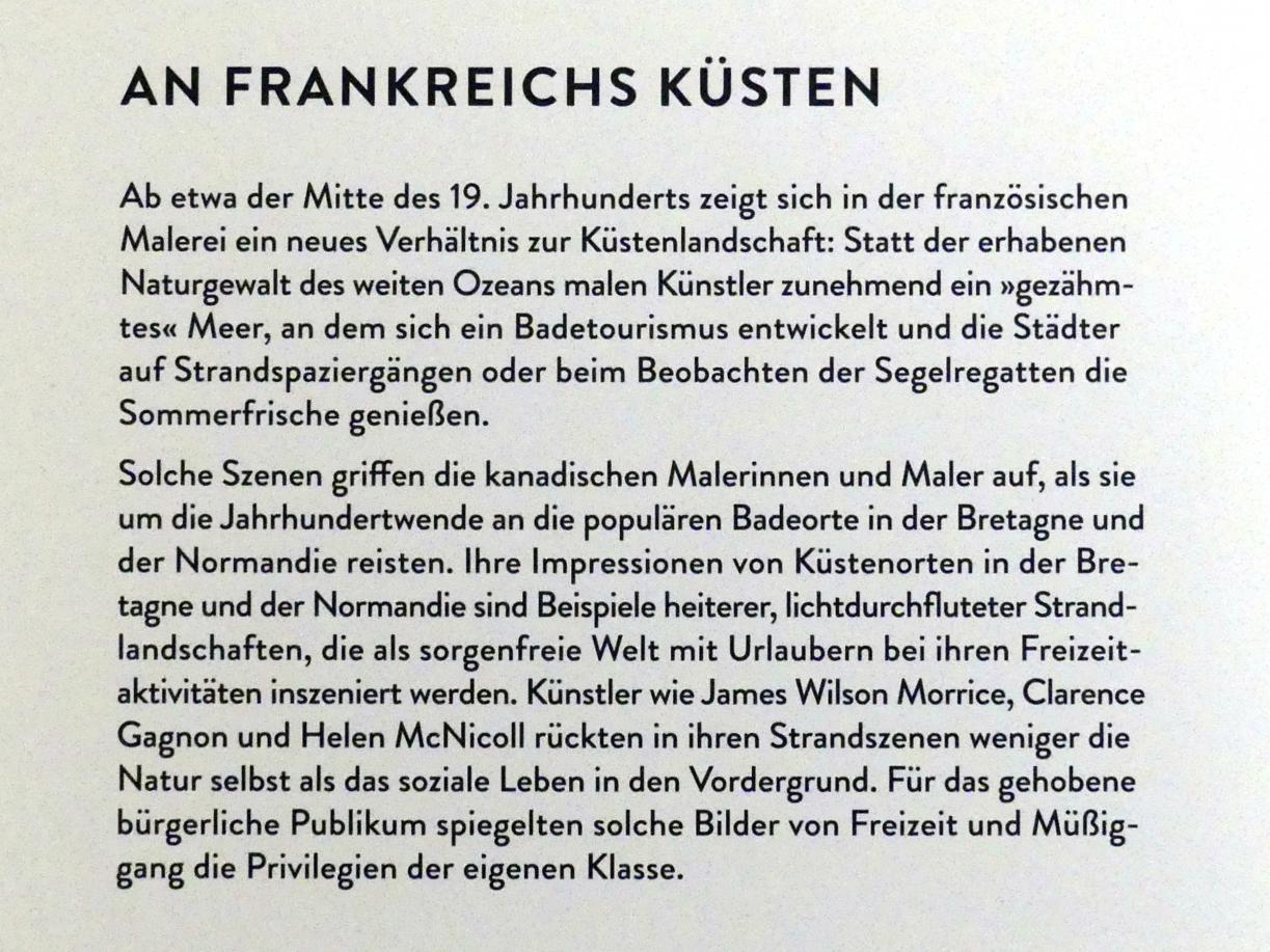 """München, Kunsthalle, Ausstellung """"Kanada und der Impressionismus"""" vom 19.7.-17.11.2019, An Frankreichs Küsten, Bild 3/4"""