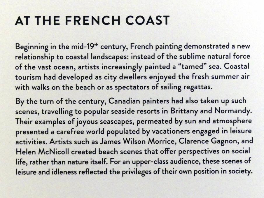 """München, Kunsthalle, Ausstellung """"Kanada und der Impressionismus"""" vom 19.7.-17.11.2019, An Frankreichs Küsten, Bild 4/4"""