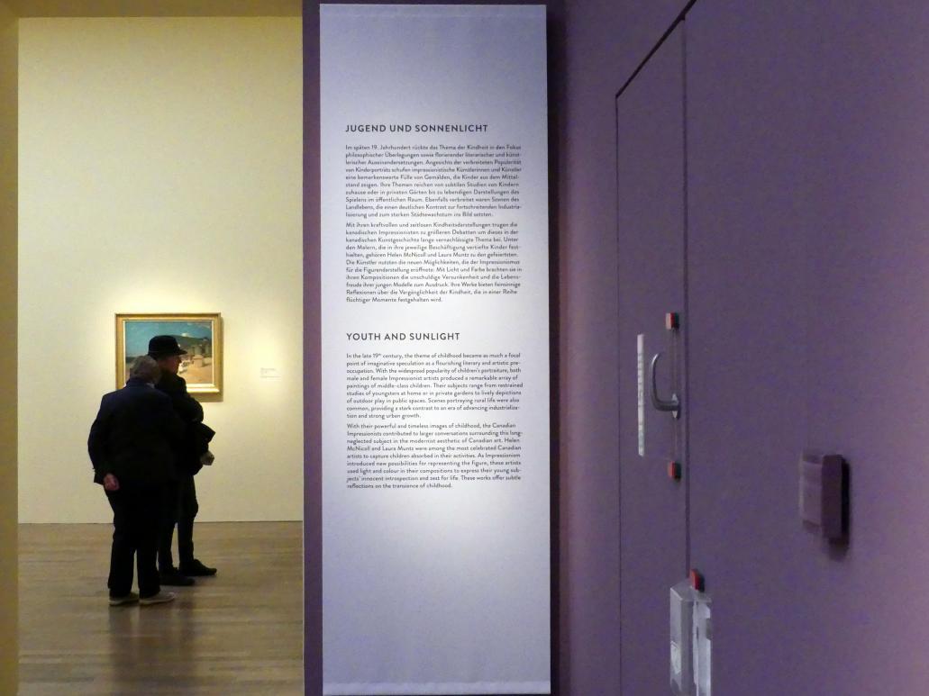 """München, Kunsthalle, Ausstellung """"Kanada und der Impressionismus"""" vom 19.7.-17.11.2019, Jugend und Sonnenlicht, Bild 2/5"""