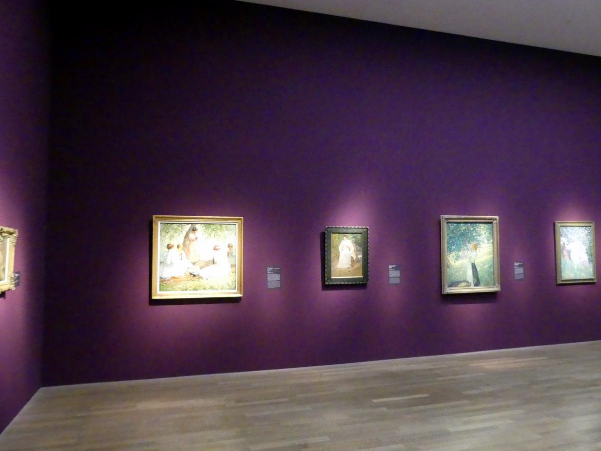 """München, Kunsthalle, Ausstellung """"Kanada und der Impressionismus"""" vom 19.7.-17.11.2019, Frauen in ihrer Freizeit"""