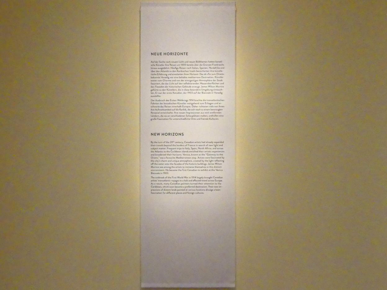 """München, Kunsthalle, Ausstellung """"Kanada und der Impressionismus"""" vom 19.7.-17.11.2019, Neue Horizonte"""