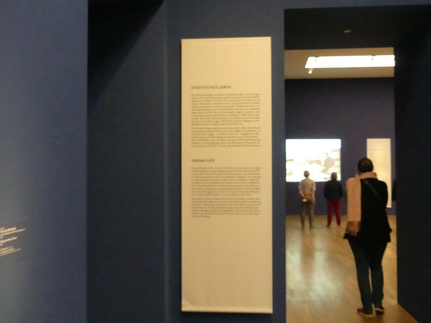 """München, Kunsthalle, Ausstellung """"Kanada und der Impressionismus"""" vom 19.7.-17.11.2019, Städtisches Leben, Bild 4/6"""