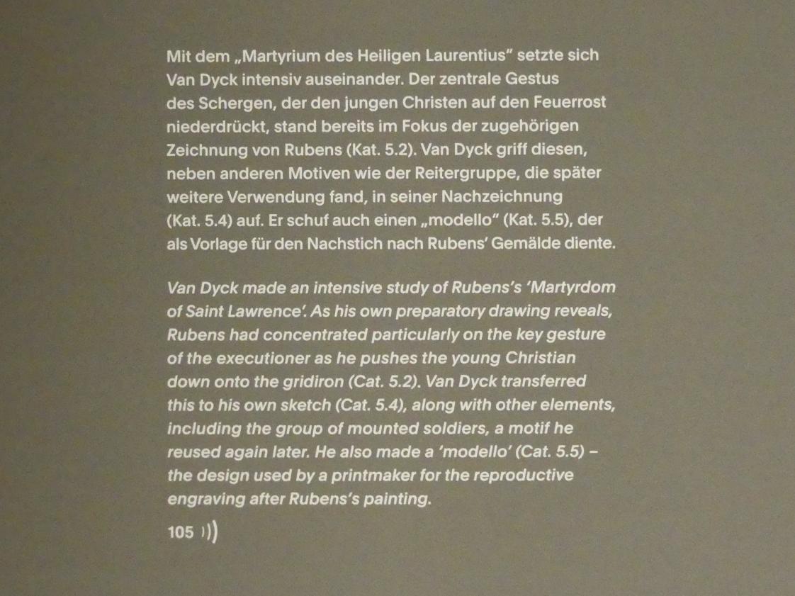 """München, Alte Pinakothek, Ausstellung """"Van Dyck"""" vom 25.10.2019-2.2.2020, Von Antwerpen nach Italien - 1"""