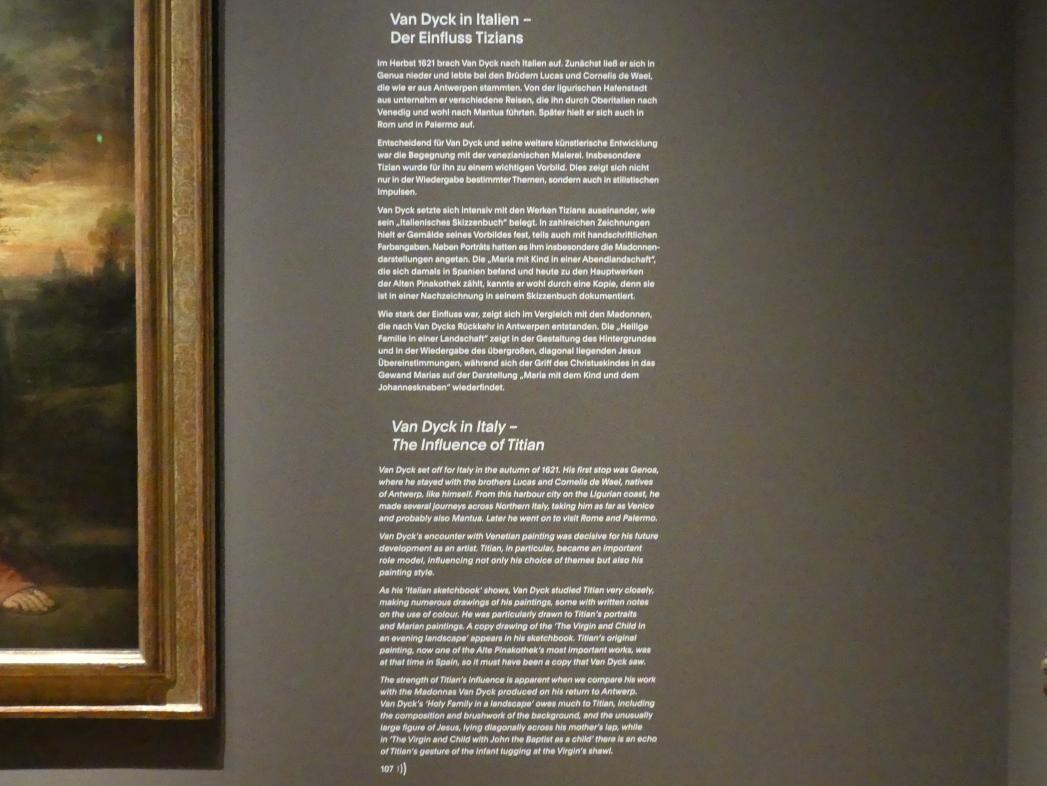 """München, Alte Pinakothek, Ausstellung """"Van Dyck"""" vom 25.10.2019-2.2.2020, Von Antwerpen nach Italien - 3, Bild 1/2"""