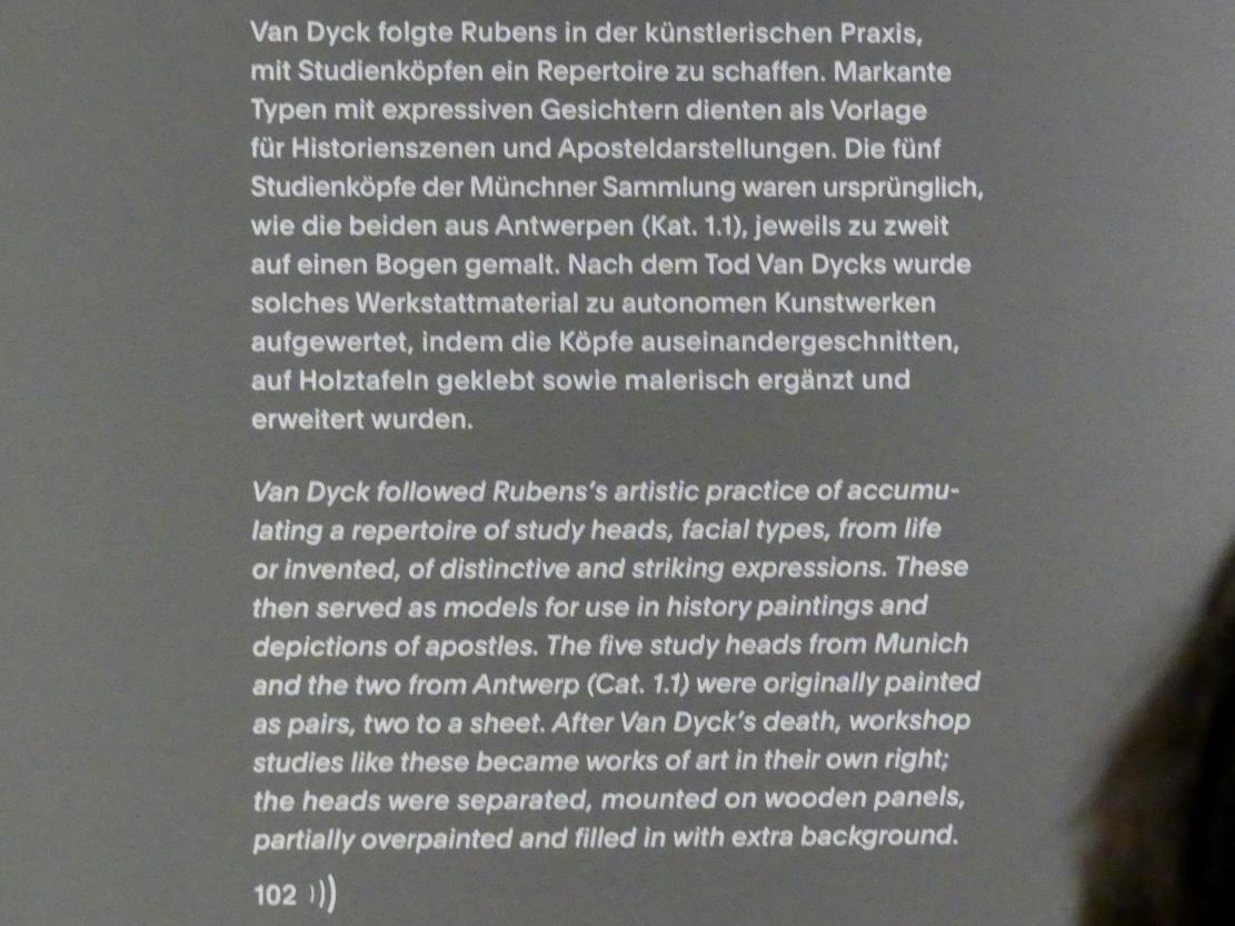 """München, Alte Pinakothek, Ausstellung """"Van Dyck"""" vom 25.10.2019-2.2.2020, Die Anfänge - 2, Bild 2/2"""