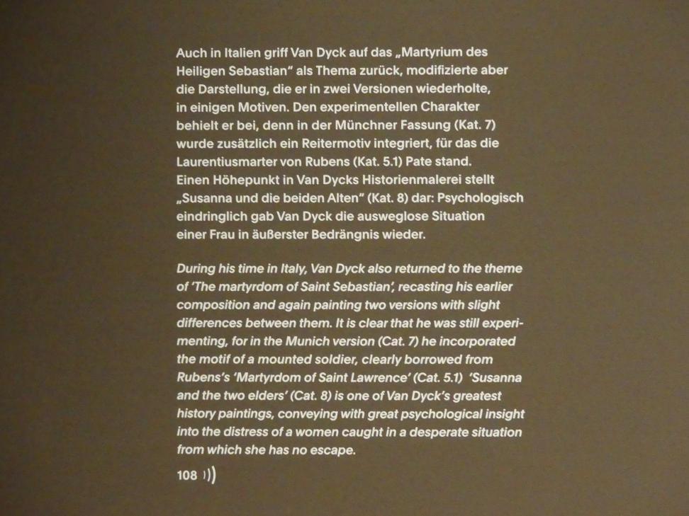 """München, Alte Pinakothek, Ausstellung """"Van Dyck"""" vom 25.10.2019-2.2.2020, Von Antwerpen nach Italien - 4, Bild 2/2"""