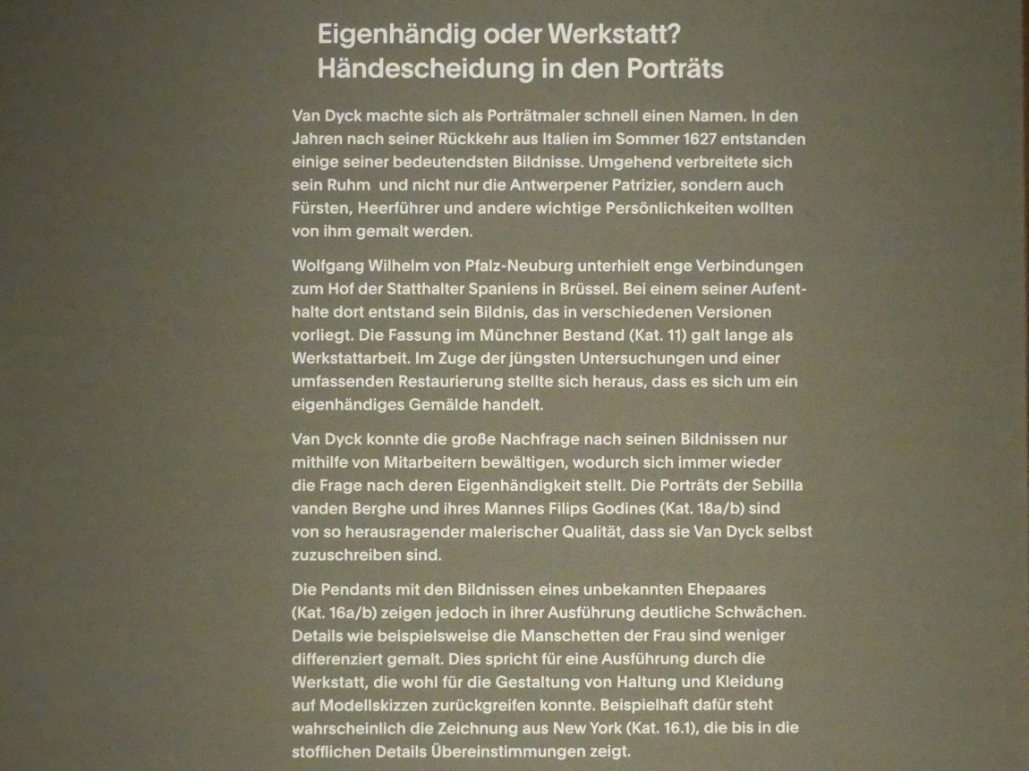 """München, Alte Pinakothek, Ausstellung """"Van Dyck"""" vom 25.10.2019-2.2.2020, Selbstbildnisse und ganzfigurige Porträts - 4"""