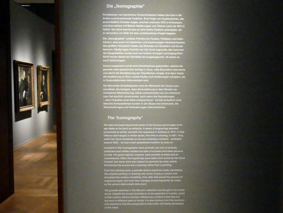 """München, Alte Pinakothek, Ausstellung """"Van Dyck"""" vom 25.10.2019-2.2.2020, Die """"Ikonographie"""" - 1, Bild 2/6"""