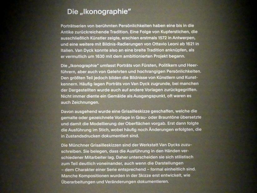 """München, Alte Pinakothek, Ausstellung """"Van Dyck"""" vom 25.10.2019-2.2.2020, Die """"Ikonographie"""" - 1, Bild 3/6"""