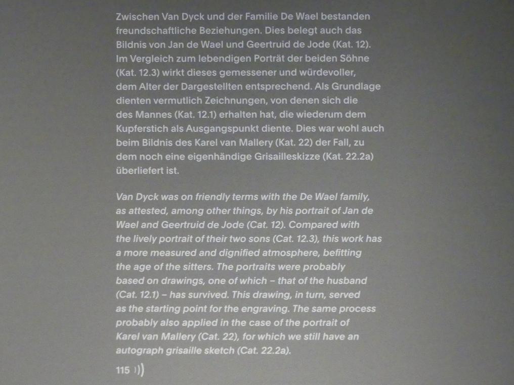 """München, Alte Pinakothek, Ausstellung """"Van Dyck"""" vom 25.10.2019-2.2.2020, Die """"Ikonographie"""" - 1"""