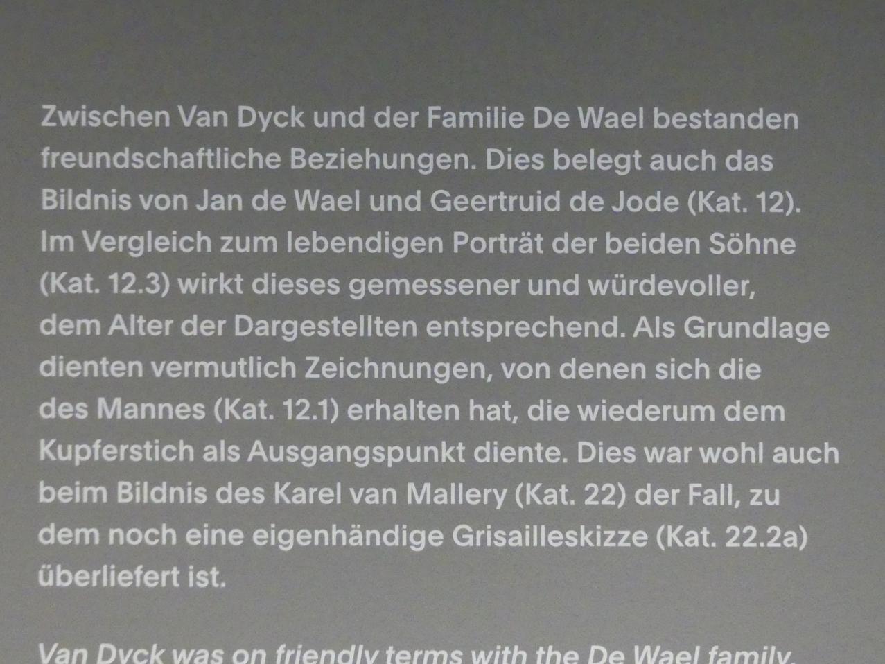"""München, Alte Pinakothek, Ausstellung """"Van Dyck"""" vom 25.10.2019-2.2.2020, Die """"Ikonographie"""" - 1, Bild 6/6"""