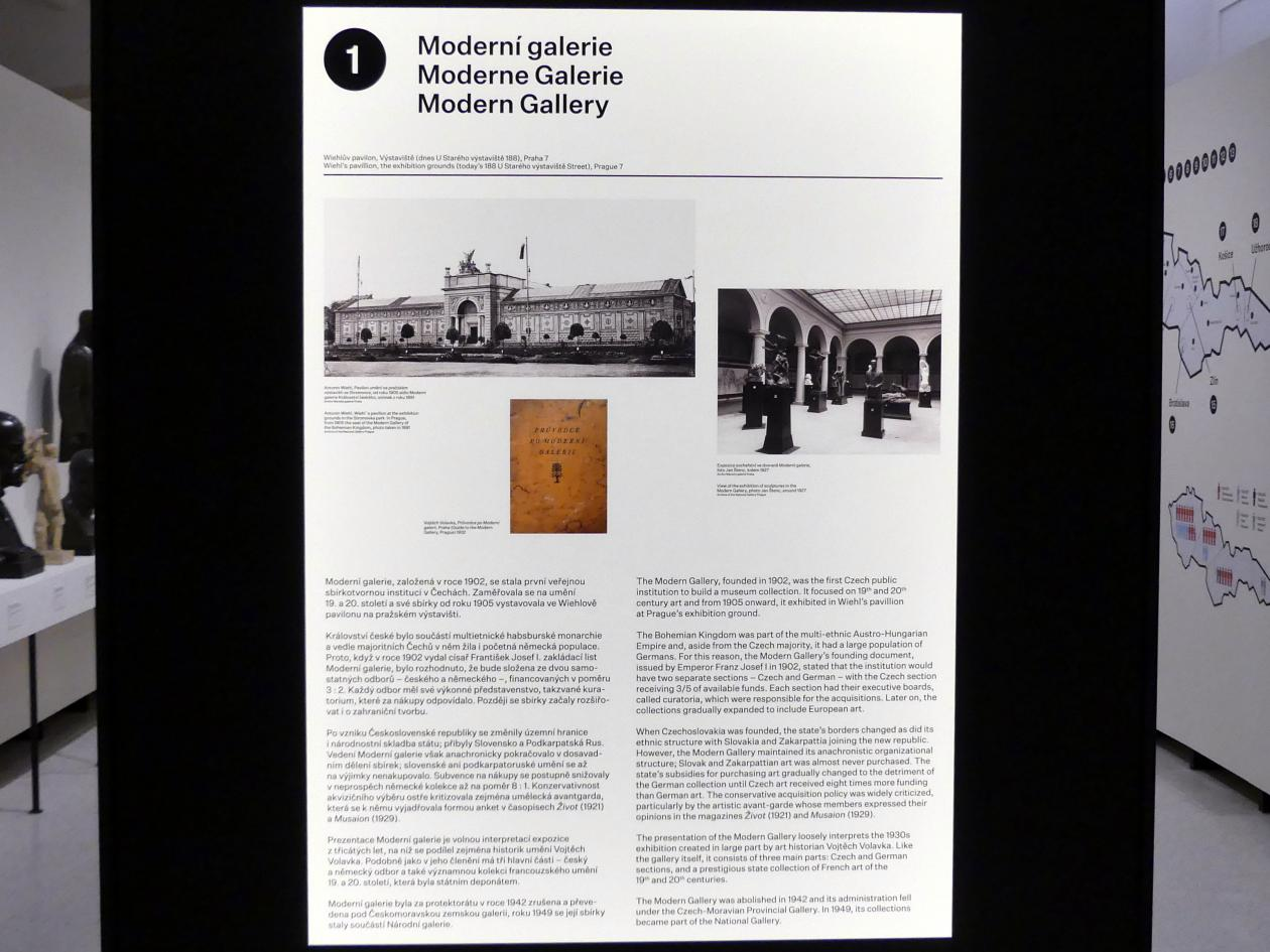 Prag, Nationalgalerie im Messepalast, 1918-1939, Saal 1, Bild 3/6