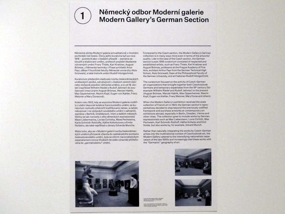 Prag, Nationalgalerie im Messepalast, 1918-1939, Saal 1, Bild 4/6