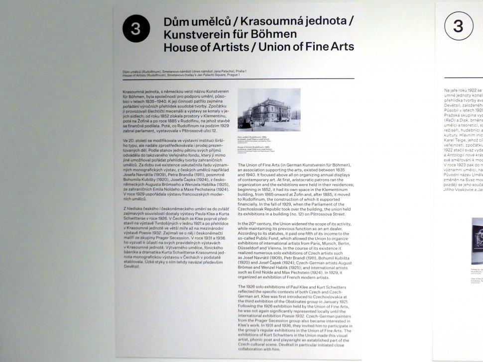 Prag, Nationalgalerie im Messepalast, 1918-1939, Saal 3, Bild 3/7