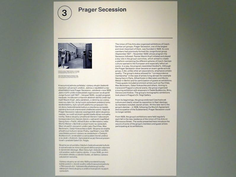 Prag, Nationalgalerie im Messepalast, 1918-1939, Saal 3, Bild 6/7