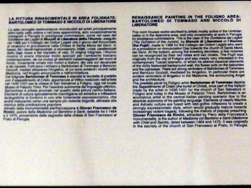 Perugia, Nationalgalerie von Umbrien (Galleria nazionale dell'Umbria), 12: Niccolò di Liberatore, detto l'Alunno, Bild 2/2