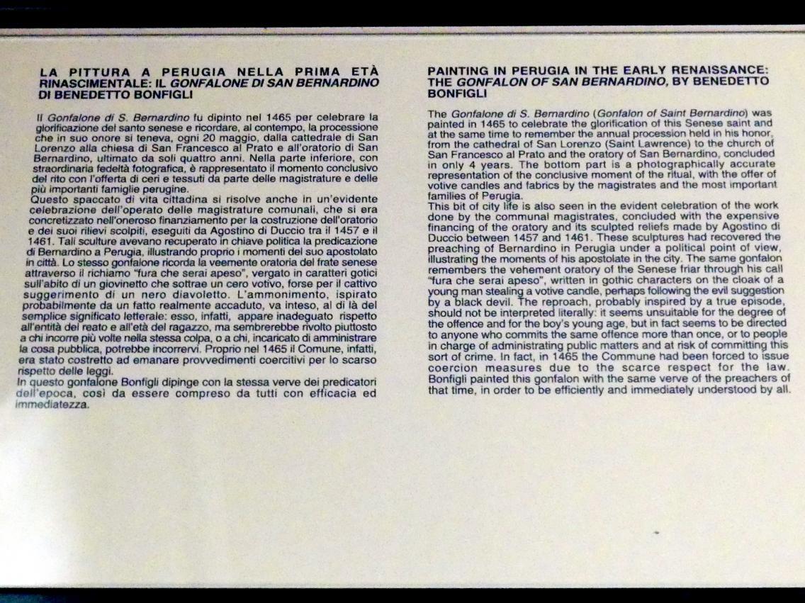 Perugia, Nationalgalerie von Umbrien (Galleria nazionale dell'Umbria), 14: Benedetto Bonfigli, Bild 4/5