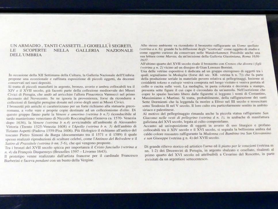 Perugia, Nationalgalerie von Umbrien (Galleria nazionale dell'Umbria), 20: Francesco di Valeriano, Bild 15/15