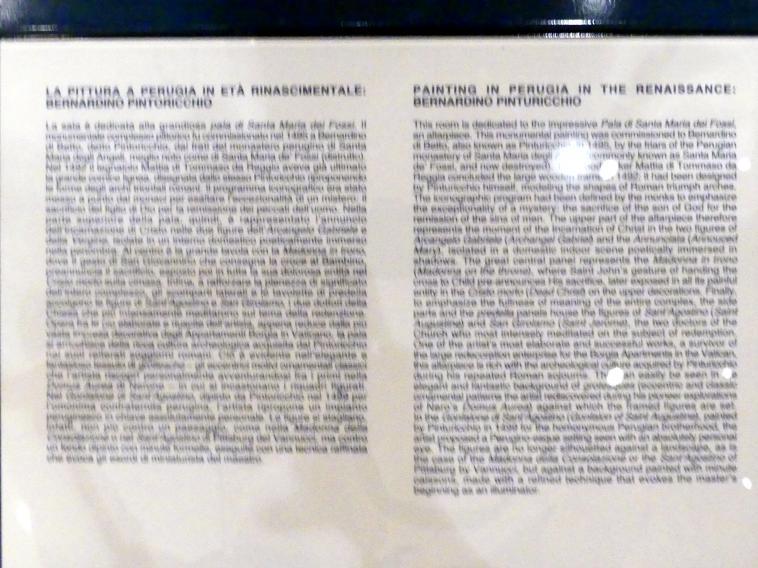 Perugia, Nationalgalerie von Umbrien (Galleria nazionale dell'Umbria), 24: Bernardino di Betto detto Pinturicchio, Bild 3/5