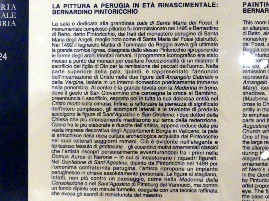 Perugia, Nationalgalerie von Umbrien (Galleria nazionale dell'Umbria), 24: Bernardino di Betto detto Pinturicchio, Bild 4/5