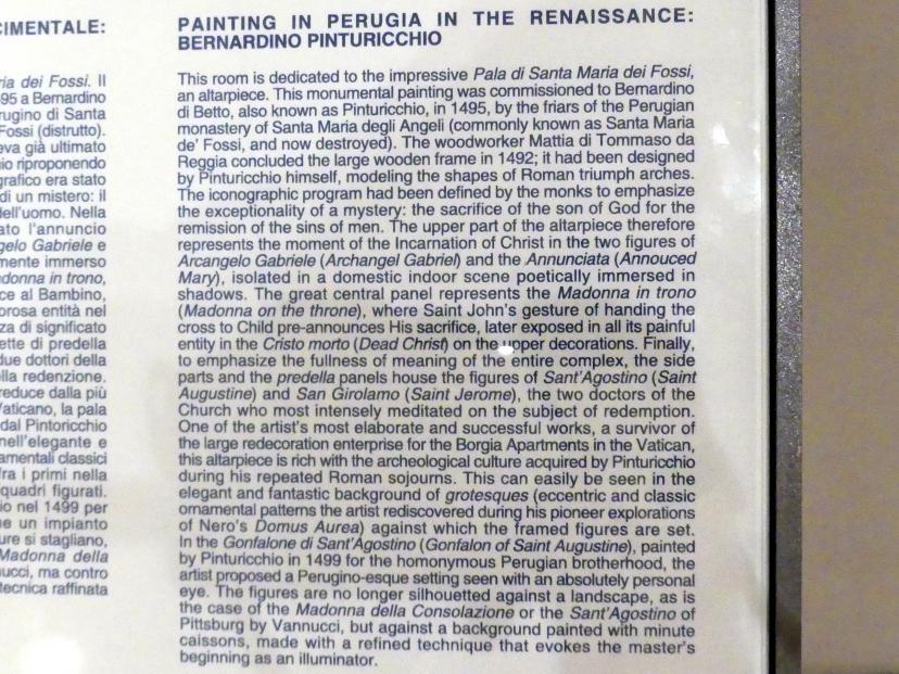 Perugia, Nationalgalerie von Umbrien (Galleria nazionale dell'Umbria), 24: Bernardino di Betto detto Pinturicchio, Bild 5/5