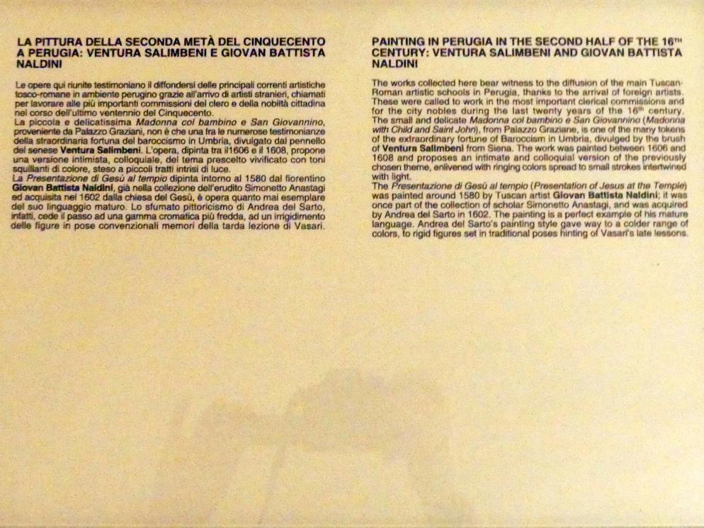 Perugia, Nationalgalerie von Umbrien (Galleria nazionale dell'Umbria), 35: Giovanbattista Naldini, Bild 2/2