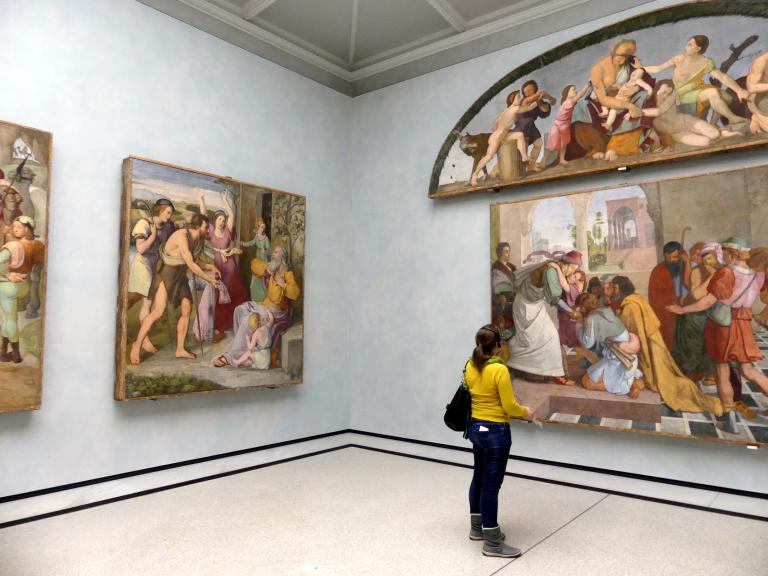 Berlin, Alte Nationalgalerie, Saal 302, Wandbilder aus der Casa Bartholy, Bild 2/4