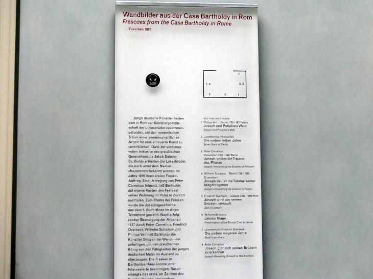 Berlin, Alte Nationalgalerie, Saal 302, Wandbilder aus der Casa Bartholy, Bild 3/4