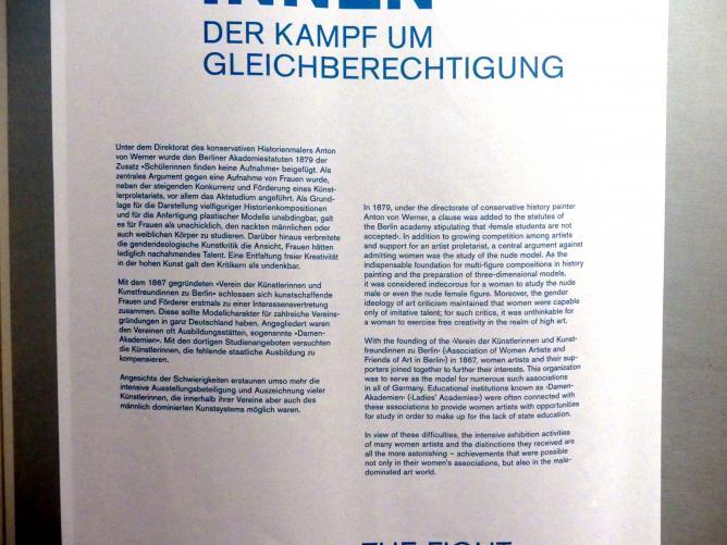 Berlin, Alte Nationalgalerie, Saal 304, Künstlerinnen der Nationalgalerie vor 1919, Bild 3/3