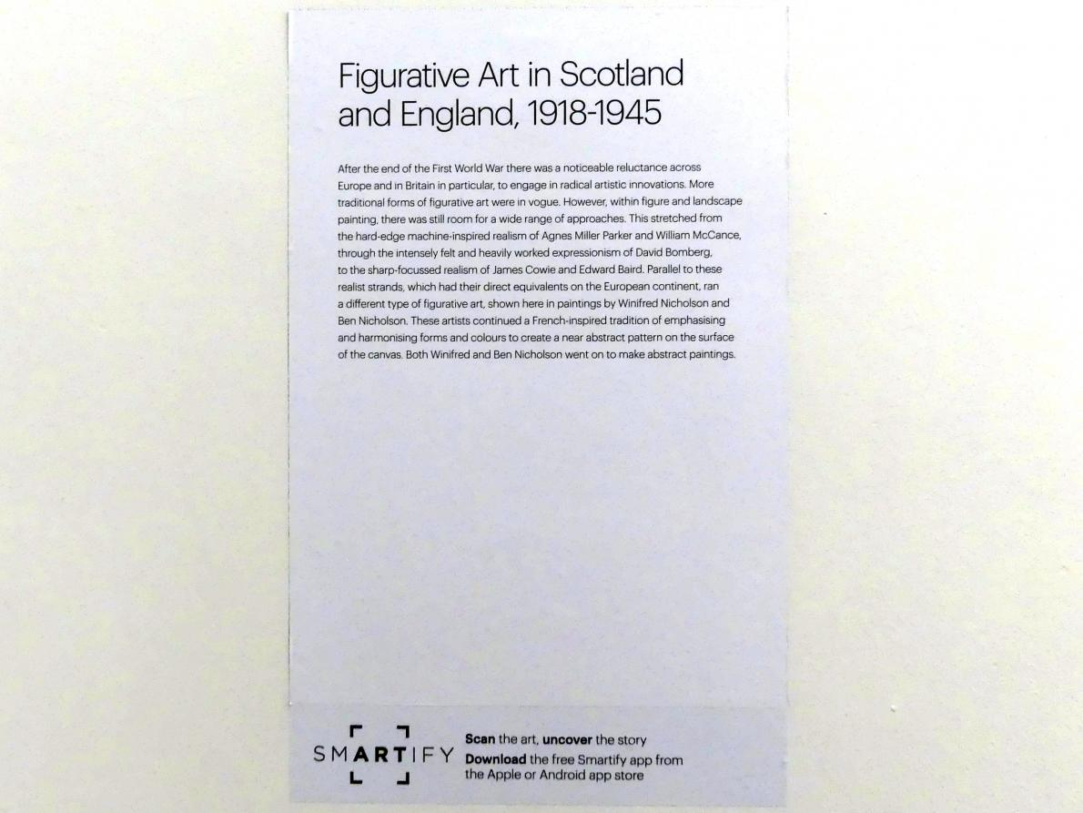 Edinburgh, Scottish National Gallery of Modern Art, Gebäude One, Saal 15 - Figurative Kunst in Schottland und England 1918-1945, Bild 2/2