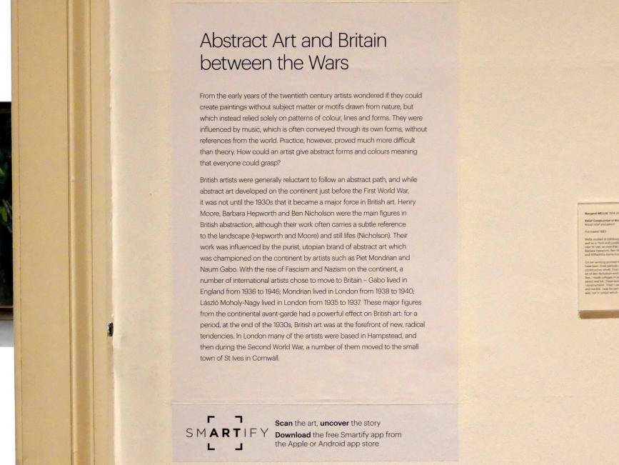 Edinburgh, Scottish National Gallery of Modern Art, Gebäude One, Saal 17 - Abstrakte Kunst und Britannien in der Zwischenkriegszeit, Bild 2/4