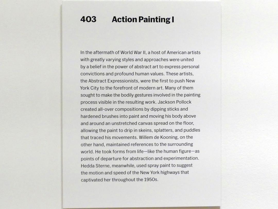 New York, Museum of Modern Art (MoMA), Saal 403, Bild 2/3