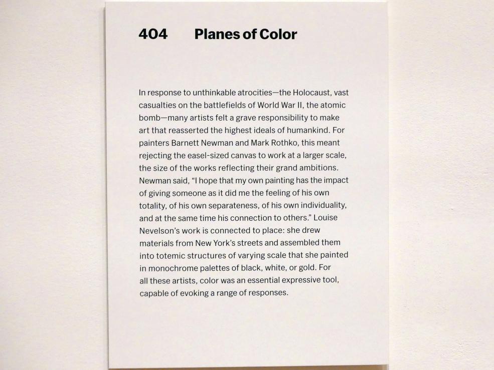 New York, Museum of Modern Art (MoMA), Saal 404, Bild 2/2