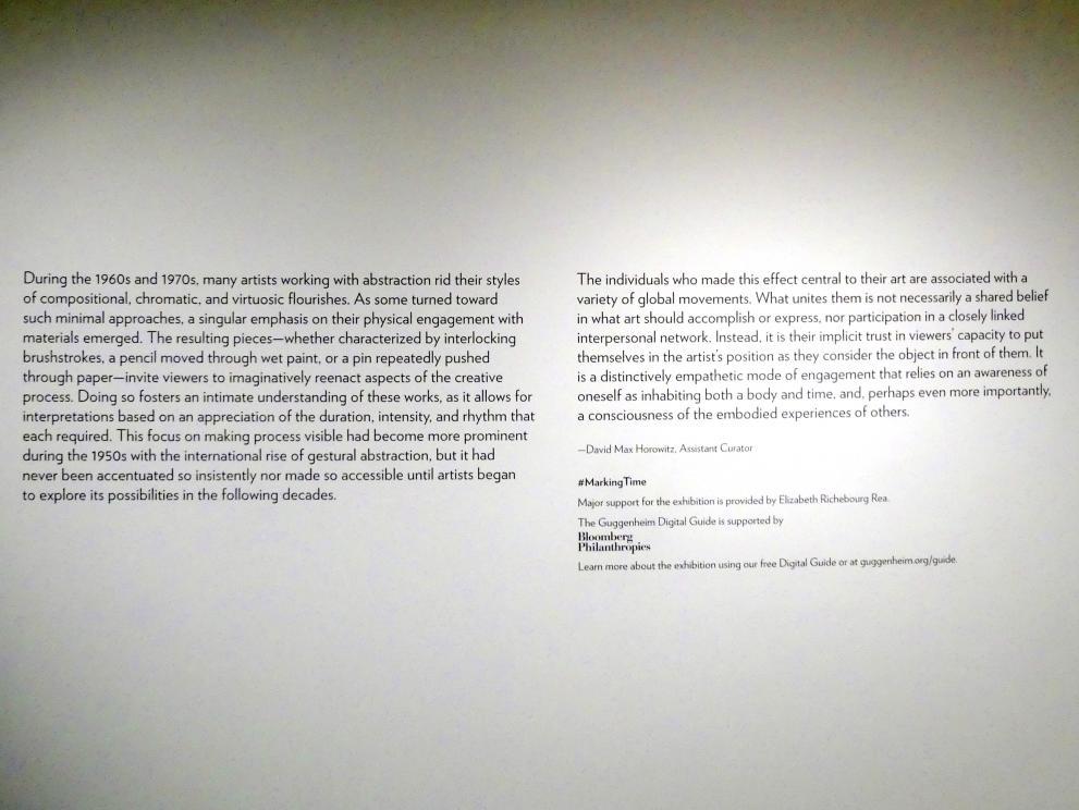New York, Solomon R. Guggenheim Museum, Marking Time: Process in Minimal Abstraction, Bild 2/5