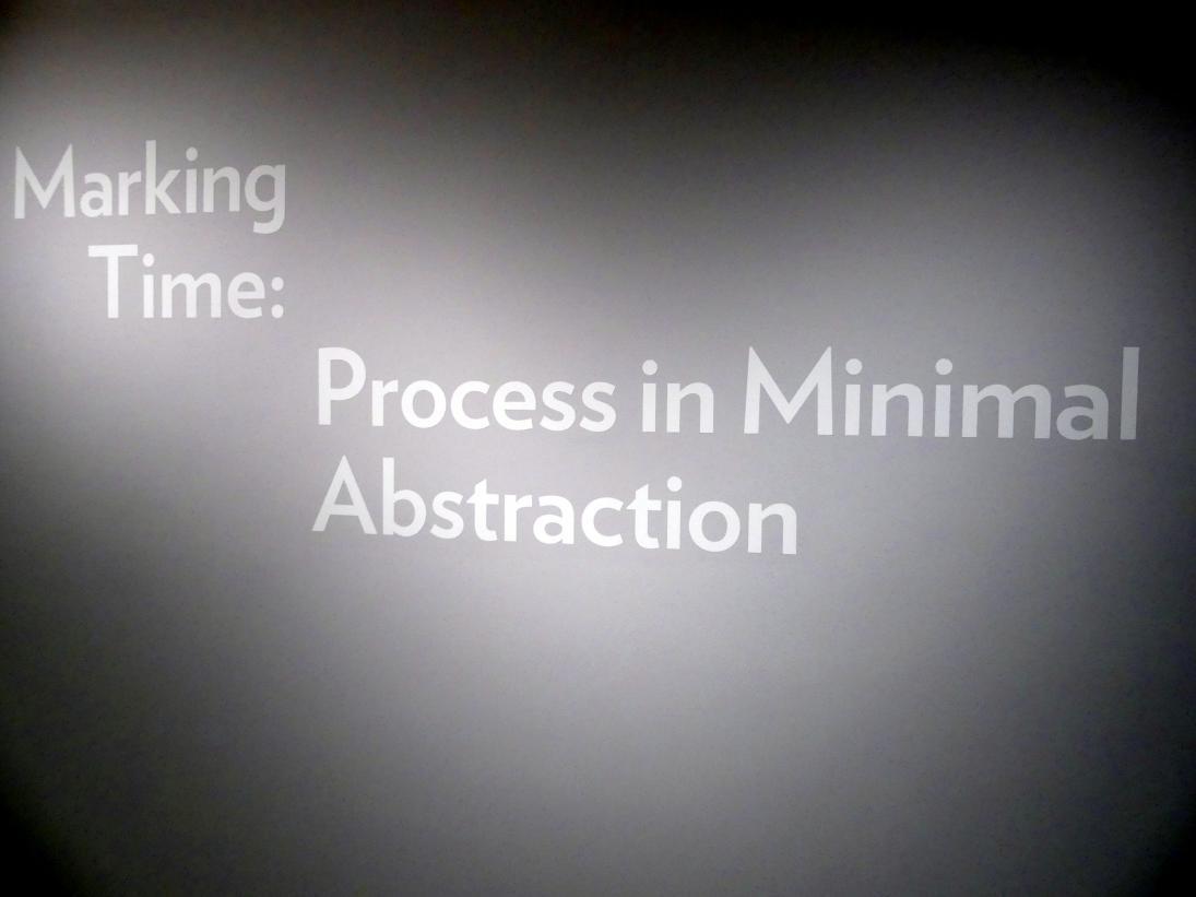 New York, Solomon R. Guggenheim Museum, Marking Time: Process in Minimal Abstraction, Bild 4/5