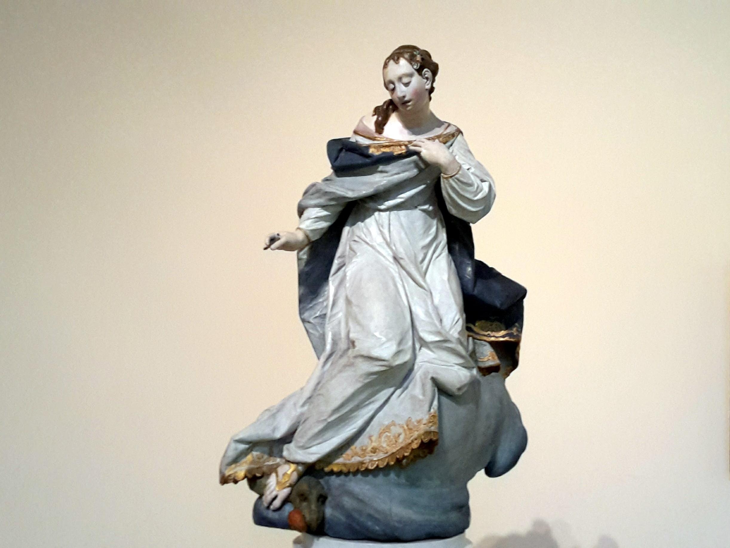 Ignaz Günther: Immakulata, Polychrom gefaßt, H. 67,5 cm, 1760 - 1765