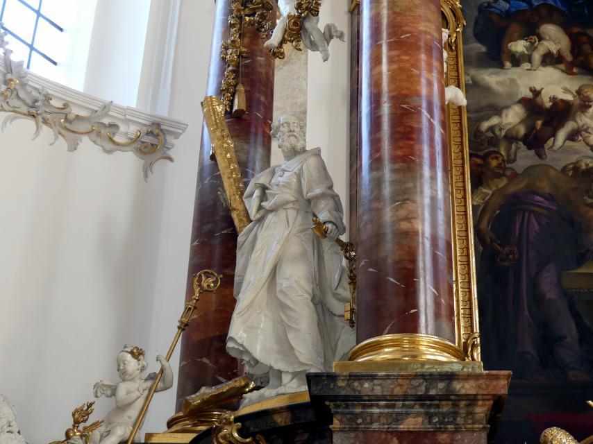 Ignaz Günther: Statue des heiligen Petrus am Hochaltar, 1765