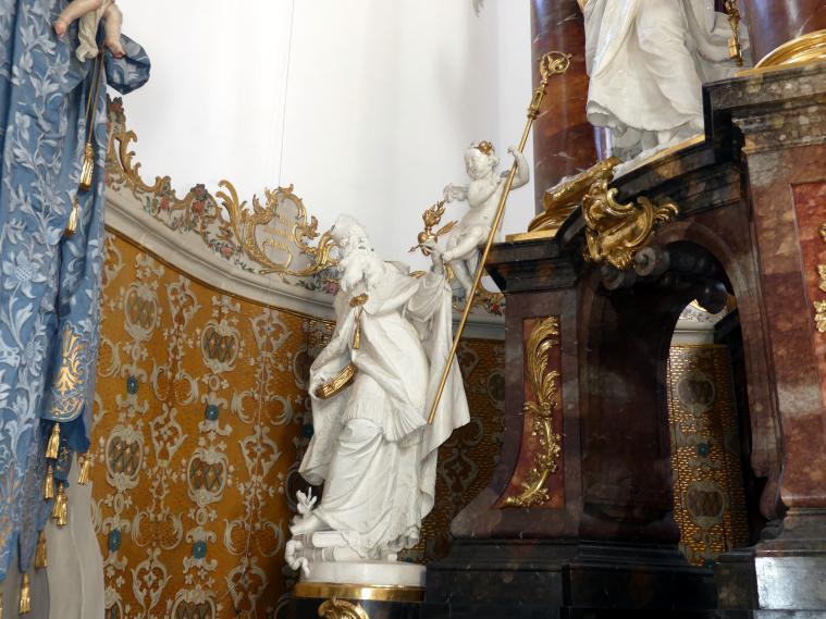 Ignaz Günther: Statue des heiligen Augustinus am Hochaltar, 1765