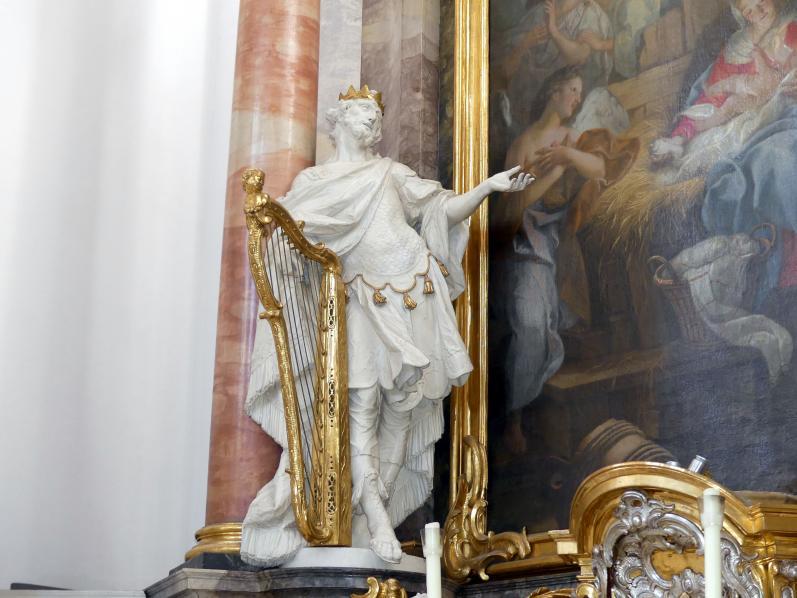 Ignaz Günther: König David, linke Seitenfigur am Josephaltar, 1764