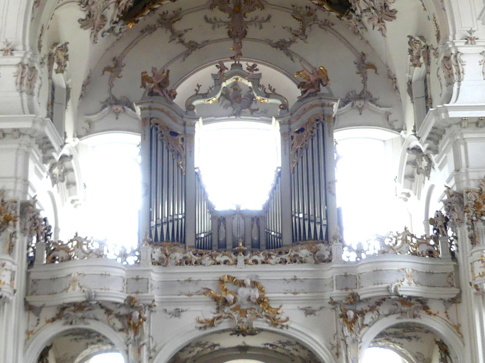 Johann Baptist Straub: Orgelgehäuse und Brüstung der Orgelempore, 1738 - 1740