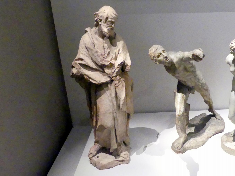 Johann Baptist Straub: Hl. Thomas, Bozzetto für die Figur am Sebastiansaltar des Marienmünsters in Dießen, 1739