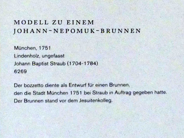 Johann Baptist Straub: Der hl. Johannes von Nepomuk in den Armen der Moldau, 1751