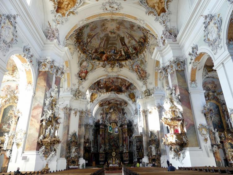 Johann Michael Fischer (Baumeister): Benediktiner-Abteikirche St. Alexander und St. Theodor Ottobeuren, 1748 - 1760, Bild 6/10