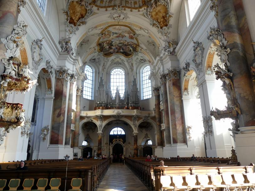 Johann Michael Fischer (Baumeister): Benediktiner-Abteikirche St. Alexander und St. Theodor Ottobeuren, 1748 - 1760, Bild 8/10