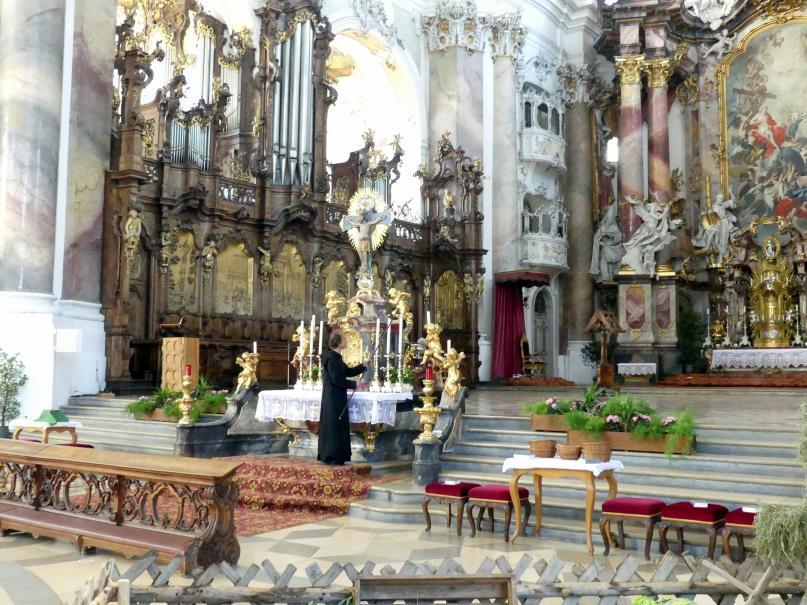 Johann Michael Fischer (Baumeister): Benediktiner-Abteikirche St. Alexander und St. Theodor Ottobeuren, 1748 - 1760, Bild 10/10