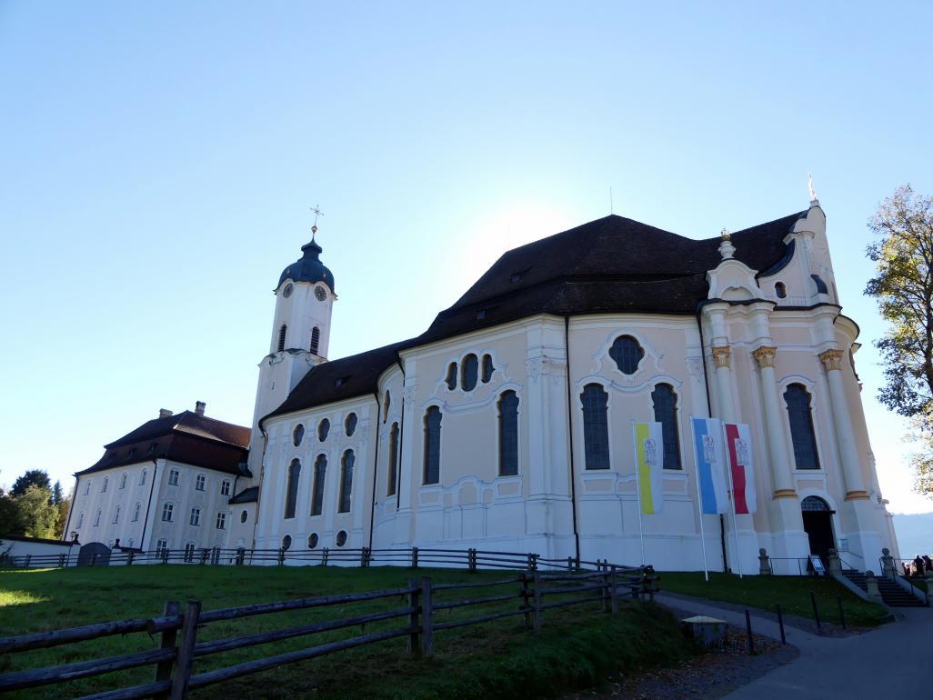 Dominikus Zimmermann: Wallfahrtskirche zum Gegeißelten Heiland auf der Wies, 1745 - 1754